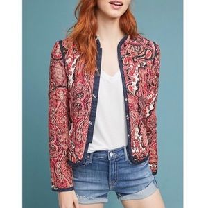 ANTHROPOLOGIE Waverly Paisley quilted jacket
